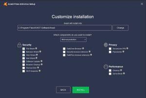 Avast Minimal Install